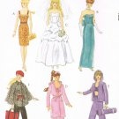 MCCALLS #6258 Uncut Doll Clothes for Barbie; Wedding Gown & More Sewing Pattern