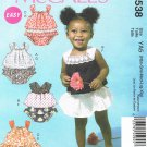 MCCALLS #6538 Uncut Infants Pullover Tops w/Shoulder Straps & Panties Sewing Pattern