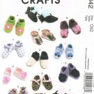 MCCALLS #6342 Uncut Child Sz Sm-Lg Baby Shoes, Boots, Bootees w/optional Trims Sewing Pattern