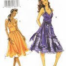 VOGUE #8381 Uncut Sz 8-12 Fitted, Strapless Dress w/Gathers & Flounce Variations Sewing Pattern
