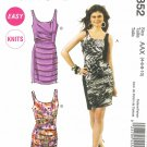 MCCALLS #6352 Uncut Sz 4-10 Sleeveless, Slim-fit, Knit Dresses; Gathered Overlay Sewing Pattern