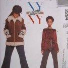 MCCALLS #2294 Uncut Jr Sz 1-7 Winter Jacket, Long Sleeve Top & Flared Pants Sewing Pattern