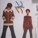 MCCALLS #2294 Uncut Jr Sz 9-13 Winter Jacket, Long Sleeve Top & Flared Pants Sewing Pattern