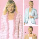 MCCALLS #5057 Sz 8-14 Below Waist, Semi-fit Lined Jacket; 3/4 or Long Sleeves Sewing Pattern