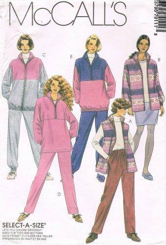 MCCALLS #7911 Uncut Sz 42-46 Vest, Jacket, Top, Pull-on Pants & Skirt Sewing Pattern