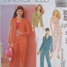 MCCALLS #3242 Uncut Sz 4-8 Front Button Shirt, Midriff Top, Pants & Capris Sewing Pattern