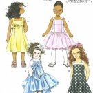 BUTTERICK #5845 Uncut Child Sz 2-5 Dress w/Shoulder Straps & Petticoat Sewing Pattern