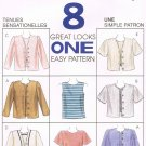MCCALLS #8155 Uncut Sz 4-6 2-Piece Long or Short Sleeve Pullover Tops & Jacket Sewing Pattern