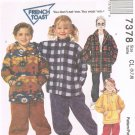 MCCALLS #7378 Uncut Child Sz 6-8 Loose-fit Jacket, Hooded Top, Pull-on Pants Sewing Pattern