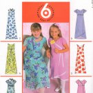 MCCALLS #4361 Uncut Sz 10-14 Girls Raised Waist Dress & Scarf; Sleeve Variations Sewing Pattern