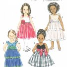 BUTTERICK #5843 Uncut Child Sz 1-4 Raised Waist Dress w/Shoulder Straps Sewing Pattern