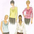 BUTTERICK #3968 Uncut Sz 6-10 Semi-fit, Pullover Top; Bias Sleeve Variations Sewing Pattern