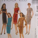 MCCALLS #2972 Uncut Sz 18-22 Sheath Dress, Top w/Bateau Neckline & Skirt Sewing Pattern