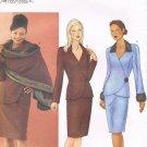 BUTTERICK #6707 Uncut Sz 6-10 Long Sleeve Semi-fit Jacket, Taper Skirt & Stole Sewing Pattern