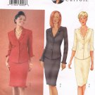 BUTTERICK #6706 Uncut Sz 6-10 Fitted Top; Optional Flounce & Straight Skirt Sewing Pattern