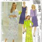MCCALLS #3294 Uncut Sz 16-22 Sleeveless Dress in 2 Lenths & Knit Cardigan Sewing Pattern