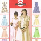MCCALLS #2590 Uncut Sz 3-5 Raised Waist Dress w/Optional Overskirt Sewing Pattern