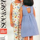 BUTTERICK #3888 Uncut Child Sz 6-8 Loose-fit A-Line Dress & Romper Sewing Pattern