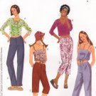 MCCALLS #3263 Uncut Child Sz 12-16 Midriff Tops, Drawstring Skirt & Capris Sewing Pattern