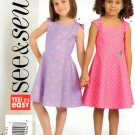 BUTTERICK #4956 Uncut Child Sz 2-5 Sleeveless Summer Flared Dresses Sewing Pattern