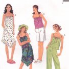 MCCALLS #3269 Uncut Child Sz 12-16 Dress w/Hem Variations, Tops, Shorts & Capris Sewing Pattern