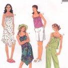 MCCALLS #3269 Uncut Child Sz 12-16 Dress w/Hem Variations, Tops, Shorts & Capris Sewing Pattern