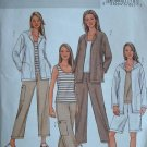 BUTTERICK #4141 Uncut Sz Xs-M Jacket, Top, Pull-on Pants & Shorts Sewing Pattern