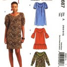 MCCALLS #5687 Uncut Sz 4-12 Pullover Dress w/gathered front - 2 lengths Sewing Pattern