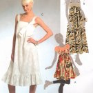 MCCALLS #5377 Uncut Sz 6-14 Gathered Empire Dress / Jumper w/Shoulder Straps Sewing Pattern