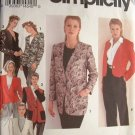 SIMPLICITY #8622 Uncut Sz 6-10 Collarless Jacket; 2 lengths; Single button Close Sewing Pattern
