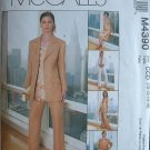MCCALLS #4390 Uncut Sz 10-16 Jacket, Bias Top or Tunic, Pants & Bias Skirt Sewing Pattern