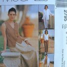 MCCALLS #2795 Uncut Sz 10-14 Sleeveless Top, Pants, Bias Skirt & Shirt Jacket Sewing Pattern