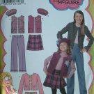 SIMPLICITY #4895 Uncut Sz 7-14 Girls Lizzie McGuire Sewing Pattern