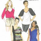 BUTTERICK #5856 Uncut Sz 4-14 Close-fit or Loose-fit Pullover Tops Sewing Pattern