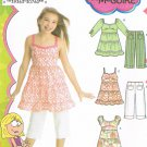 SIMPLICITY #3771 Uncut Child Sz 3-6 Dress, Top & Capris Sewing Pattern