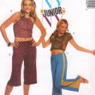 MCCALLS #3099 Uncut Jr Sz 1-7 Halter or Short Sleeve Tops & Pull-on Pants Sewing Pattern