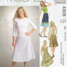 MCCALLS #4306 Uncut Sz 6-12 Semi-fit Below Mid-knee Flared Bias Skirts Sewing Pattern