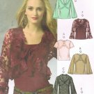 MCCALLS #5236 Uncut Sz 4-10 Lined/Unlined Shrugs & Pullover Top w/Bias Neck