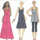 BUTTERICK #5637 Uncut Sz Xsm-Med Sleeveless, Fitted Bodice Tunic & Dresses