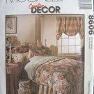 MCCALLS #8606 Uncut Bedroom Comforter, Shams, Curtains & Valance