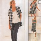 MCCALLS #8178 Uncut Sz 8-12 Dress, Top, Jacket & Pull-on Pants or Shorts