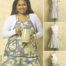 BUTTERICK #5436 Uncut Sz Sm-Lg  Back-tie Aprons; Optional Bib or Necktie