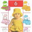 MCCALLS #5610 Uncut Infants Ruffled Top w/Straps, Panties & Hat