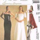 MCCALLS #2861 Uncut Sz 4-8 Evening / Bridesmaid Empire Bodice Dress & Wrap