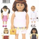 "BUTTERICK #3491 Uncut Dress, Top, Tunic, Jacket, Skirt, Shorts 18"" Doll Clothing"