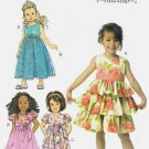 BUTTERICK #6161 Uncut Sz 2-5 Child's Dress w/Sleeve & Skirt Variations