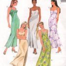 MCCALLS #9273 Uncut Sz 8-12 Scoop Neck Dress w/Straps; Optional overlay