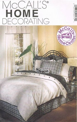 MCCALLS #2017 Uncut Bedroom Reversible Duvet, Curtains & Shams