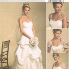 BUTTERICK #5184 Uncut Sz 8-14 Close-fit, Floor Length Bridal Dress w/Front Drape