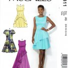 MCALLS #411 Uncut Sz 6-14 Close-fit, Flared Dresses, Shaped Hem, Opt Underskirt